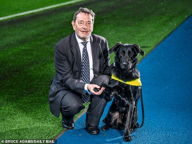 Witnesses say Barley, the former home secretary's dog, attacked the animals when let off its lead to stretch its legs in two separate incidents in September and October. Lord Blunkett is pictured above with Barley