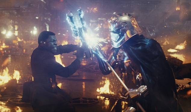 Makings of a hero: Last month, Boyega discussed potential story directions that would have given Finn a lot more face time... that never materialised; seen in 2017'sThe Last Jedi