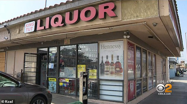 Deadly shooting took place at the 200 block of West Base Line Street outside King Tut Liquor (above)