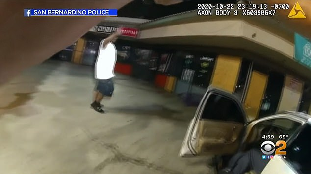 'Why you got a gun on me?' Bender asks as he keeps walking and is told to raise his hands