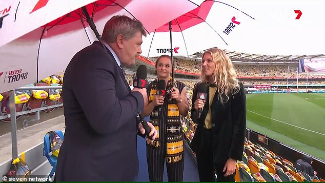 Taylor asked Gilmore what she knew about AFL and how many games she had played in