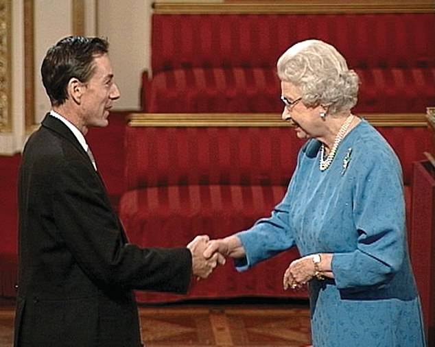Frank was appointed an OBE in 2005. He was determined to walk while meeting the Queen and used a zimmer frame rather than his wheelchair