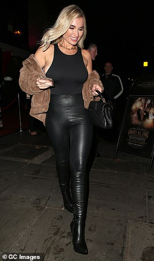 Star: Billie - who is currently training for Dancing On Ice next year - grabbed attention in a black cropped top