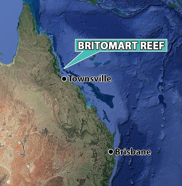 The nearest Britomart Reef boat launch is approximately 140 km north of Townsville