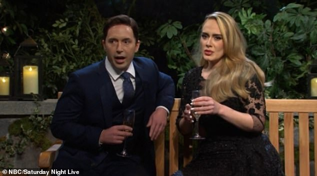 Match made in Heaven? She made the comment while parodying the dating show The Bachelor in which she hoped to win the heart of 'Ben K' while competing with a host of other women