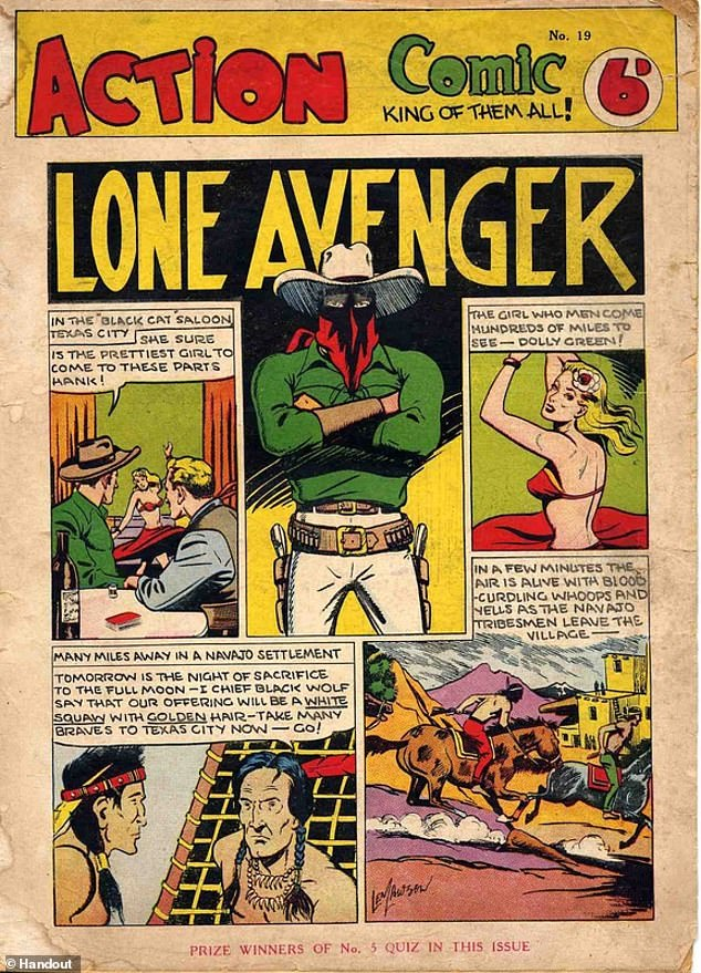 Before Len Lawson embarked on the first of a bizarre series of violent crimes in 1954 he had been a successful artist and photographer, creating and drawing popular comic books. His best-known work was illustrating The Lone Avenger (pictured)
