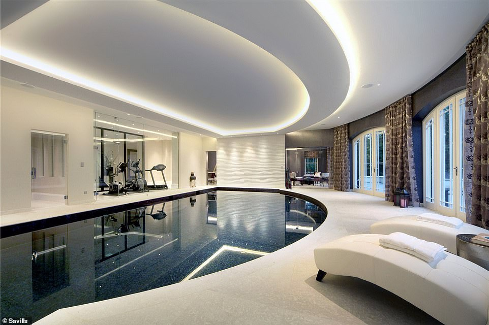 Time to relax: The leisure complex includes a sauna, steam room, gym and separate bar area