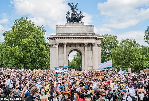 London Trans+ Pride protest for Black Trans Lives Matter in central London