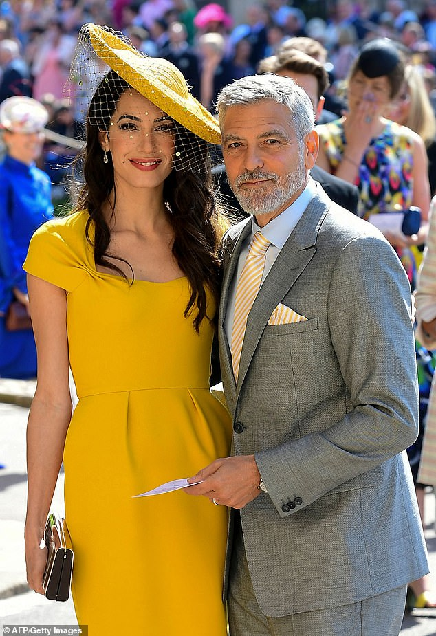 George and Amal Clooney 'claimed they didn't know Prince Harry and Meghan Markle at the wedding'