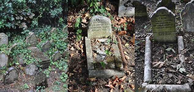 Example of the use of body stones, kerbs and headstones to resemble the appearance of a bed in Hyde Park Pet Cemetery