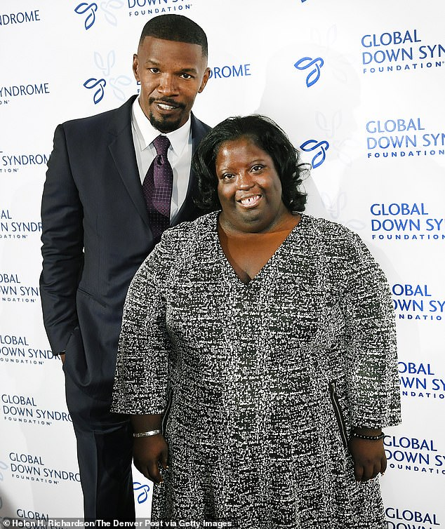 Tragic news: Jamie Foxx announced on Monday that his 'beautiful, loving' younger sister, DeOndra Dixon (R), has died at age 36 (pictured in 2016)