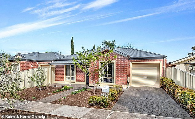 Housing affordability (Adelaide house pictured) is at the best level in a decade as a result of the coronavirus recession. In September, an Australian dual-income couple earning $1,305 a week after tax needed to dedicate 23 per cent of their monthly income to pay off a mortgage, down from 25.1 per cent a year earlier, an analysis by ratings agency Moody's showed