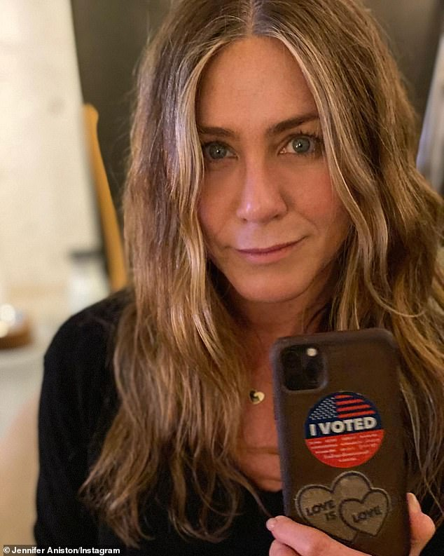 Do it: Last week, Aniston urged her 35.7 million subscribers to vote early as she made a passionate appeal to Americans while sharing photos of herself casting her mail-in ballot.