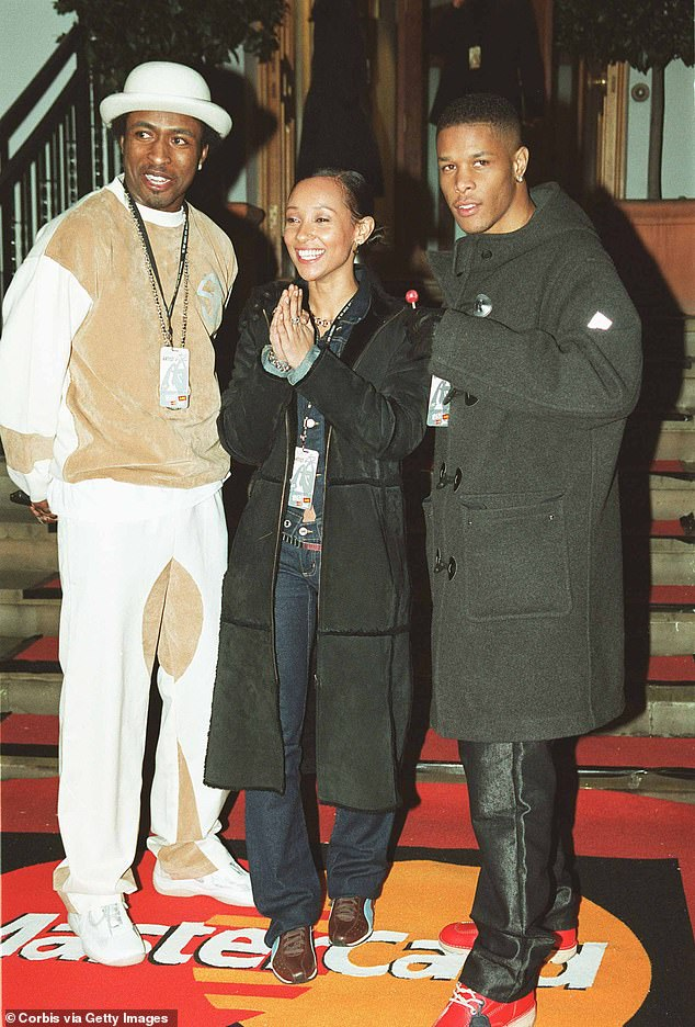Band mates: Megaman (left), Lisa (centre) and Romeo (right) of So Solid Crew attend the launch of the Brit Awards 2002 at Abbey Road Studios