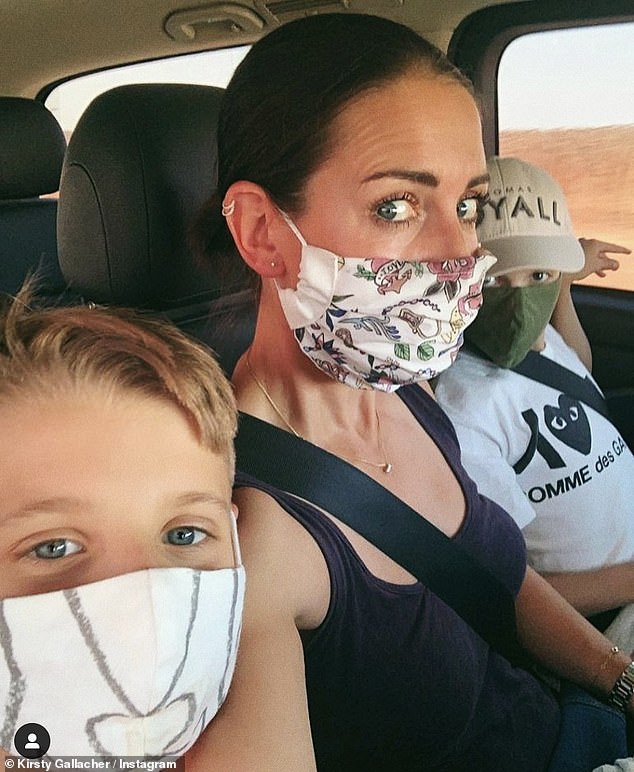 Alone:In March, Kirsty was forced to quarantine herself away from her two children while she battled coronavirus, but constantly worried about the wellbeing of Oscar, 13, and Jude, 10