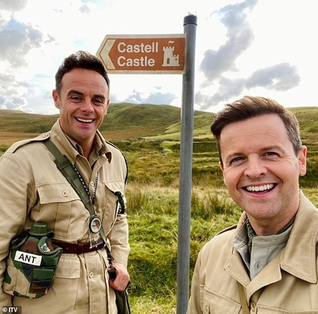 Happy campers:Elsewhere, it was revealed recently the production staff will reportedly be accommodated at a caravan holiday park in North Wales during filming (pictured hosts Ant and Dec)