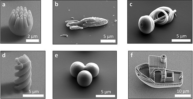 Researchers created a range of other objects as part of the process of testing their 3D printed techique. This included a starship, balls and a spiral-type object that may be used for real