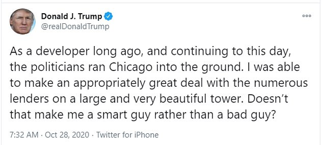 Trump defended transactions on a Chicago tower that had lenders forgive $237 million in debt