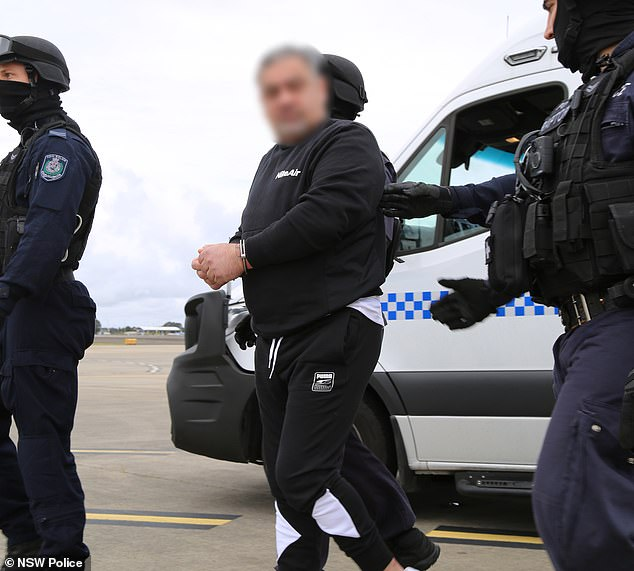 Former bikie boss Hassan 'Sam' Ibrahim was handed over to federal authorities in preparation for his deportation to Lebanon