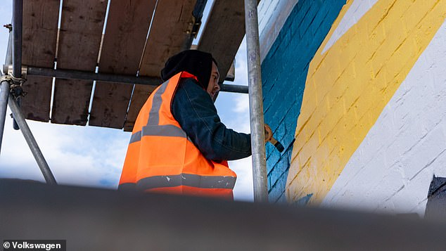 VW says100 square metres of the paint can reduce air pollution in the same way as planting 100 square metres of forest