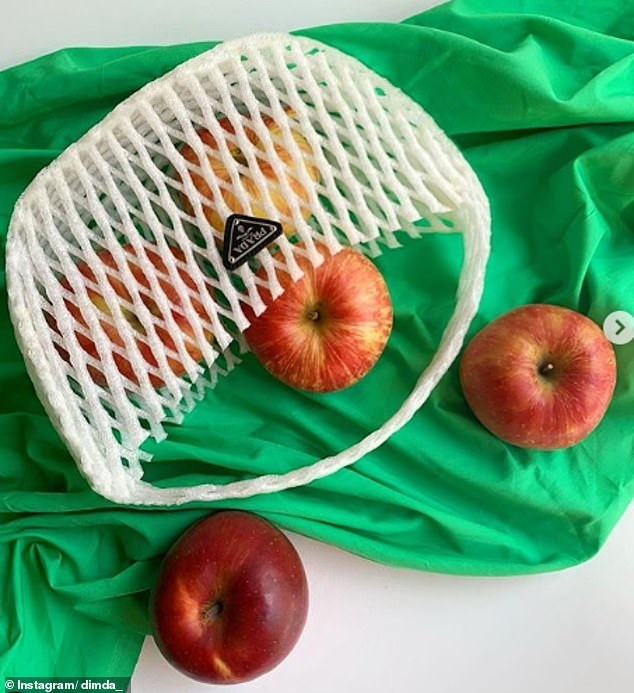 Recreating the net bags used around the world for carrying fruit, the fashion designer imagined a reusable carrier from Prada