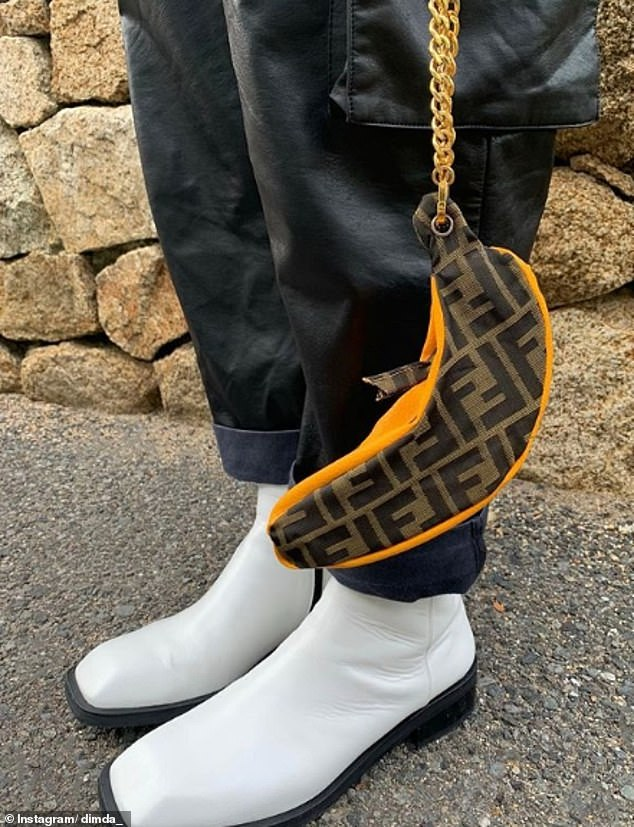 A custom Fendi hand bag designed to carry banana's racked up almost 4,000 likes
