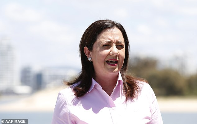 The tour would have taken place the day before Ms. Palaszczuk (pictured) announced that Queensland would not reopen its border with Sydney on November 1st