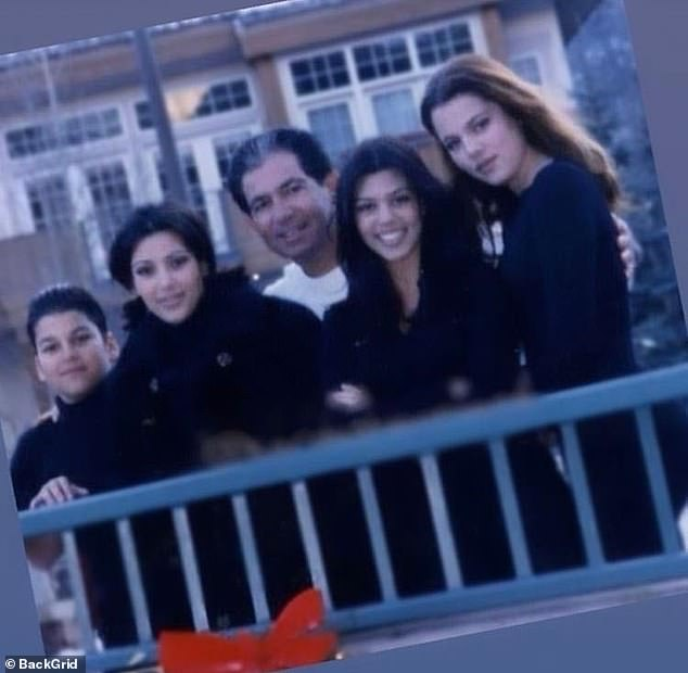 We are family: The late Robert Kardashian pictured with his four children (L-R) Rob, Kim, Kourtney and Khloe
