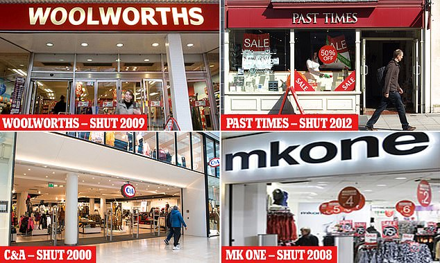 A number of popular high street stores have closed over the years: We take a look back