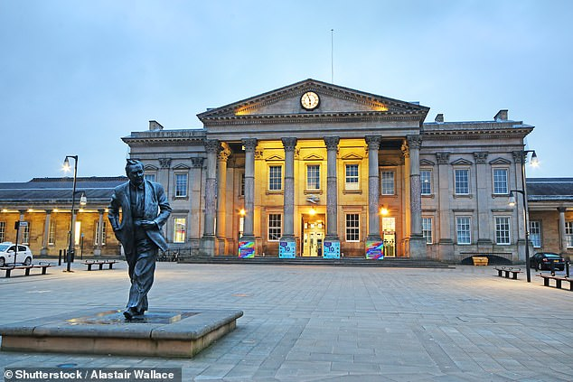 Huddersfield (pictured) saw the biggest percentage increase when accounting for uploads and downloads with an increase of 37 per cent, TalkTalk found. Halifax (36 per cent) and Dudley (35 per cent) were second and third place, respectively