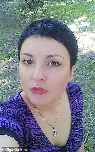 Olga Galkina, 40, was linked to the dossier this week and was described by The Wall Street Journal as a 'disgruntled PR executive' living in Cyprus