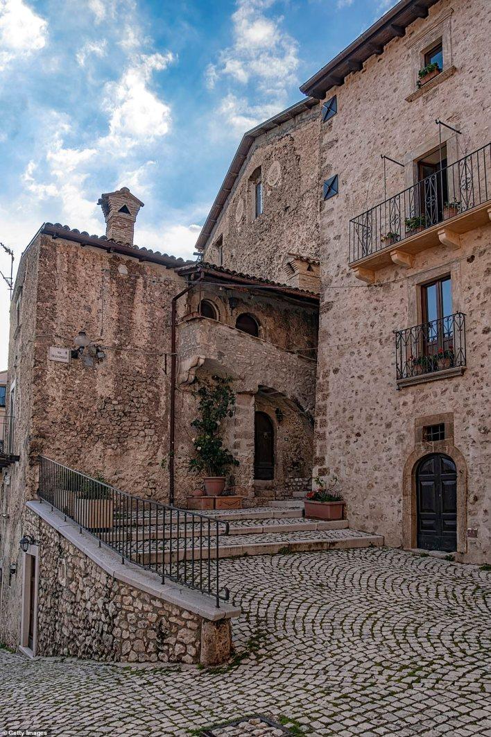 Santo Stefano di Sessanio is a medieval hill town in the province of L'Aquila in the Abruzzo region of southern Italy, in the Gran Sasso e Monti della Laga National Park, in the highest region of the Apennines