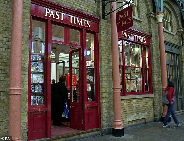 Past Times specialised in retro goods and gifts with the first branch opening in Oxford in 1987