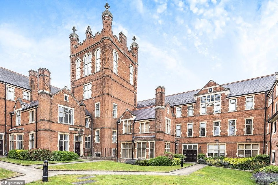 The flat is in a converted school - which was previously The Royal Masonic School for Boys
