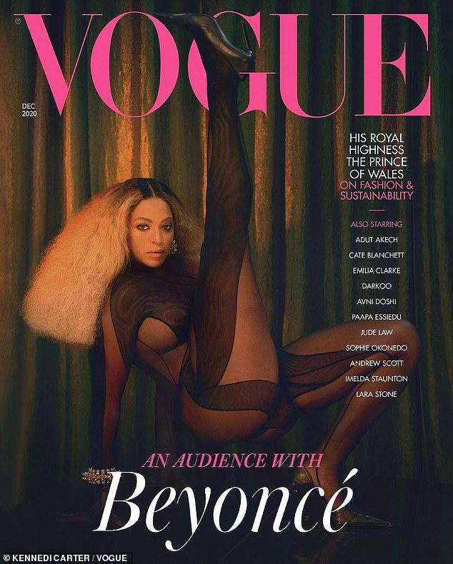 Hou la la!  Beyonce a épaté trois couvertures différentes de British Vogue dans le cadre d'un nouveau numéro spécial de décembre (représenté dans un body noir transparent Thierry Mugler qui a pris plus de 100 heures à coudre!)