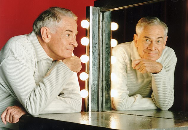 Stanley Baxter (pictured) was married for 46 years, but he reveals in his new autobiography beneath his cheerful exterior lies a man tortured by the fact he is gay