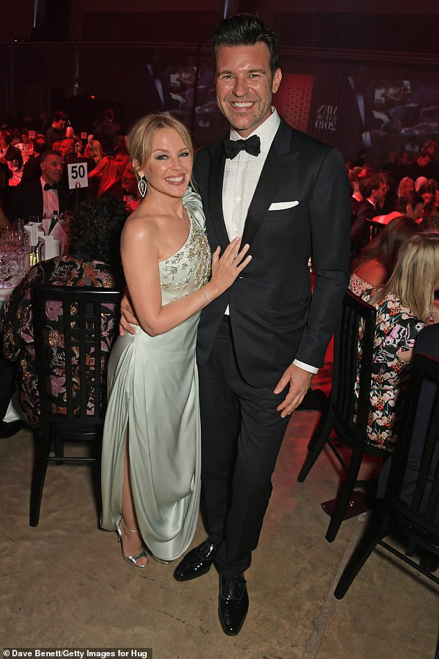 Close: Kylie Minogue has revealed that her boyfriend of two years, Paul Solomons, has met her extended family. Speaking to this week's Stellar, the 52-year-old says she and her British GQ creative director beau, 46, travelled to Australia for a special birthday. Both pictured