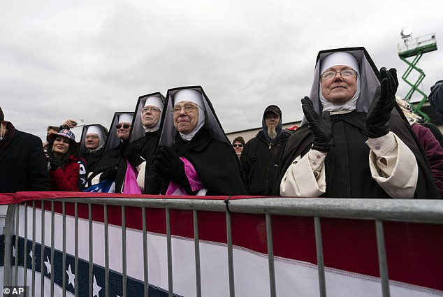 This is the second group of nuns to attend Trump's campaign stops in just one week, after others showed up to his Circleville, Ohio, stop last Saturday