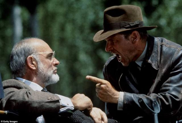 He is also fondly remembered for his part two years later as the father of Harrison Ford's whip-cracking hero in Indiana Jones And The Last Crusade, the third instalment in the hugely popular franchise