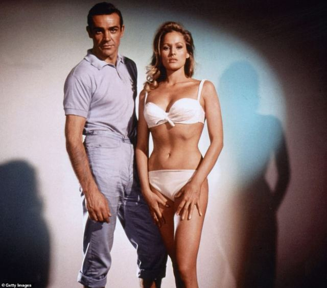 Sir Sean frequently tops polls as the best Bond to have played the role following his part in Dr No (pictured with Ursula Andress), From Russia With Love, Goldfinger, Thunderball and You Only Live Twice.