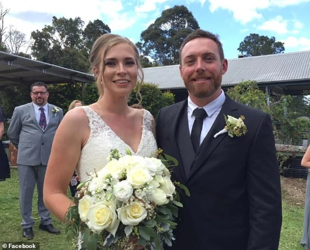 Alice and Dean Morcombe (pictured) were engaged in New Zealand in 2016 before getting married on the Sunshine Coast two years later