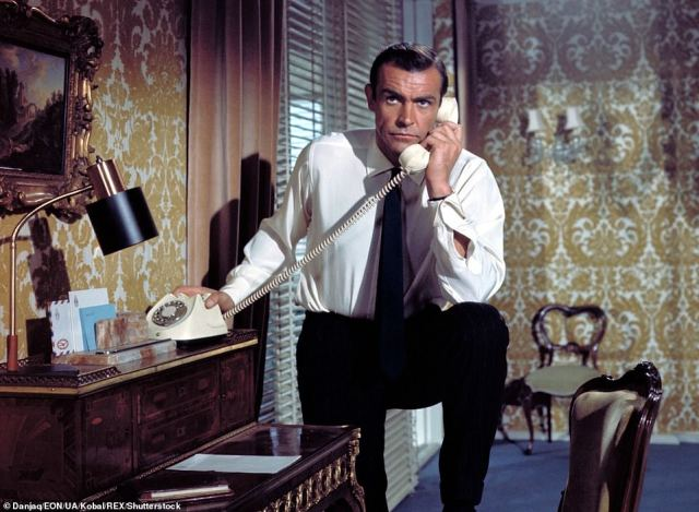 1963: Connery in the film From Russia with Love, the second in the James Bond Series produced by Eon Productions