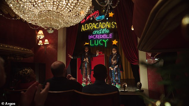 The advert sees Lucy and Daisy perform for their family doing a show called 'Abracabra with the Incredible Lucy'