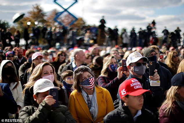 There was a smaller than usual crowd for President Trump at his first rally of the day in Pennsylvania