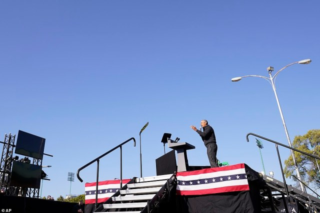 Stumping for Joe: Barack Obama took the stage to praise Joe Biden's character - and excoriate Donald Trump's handling of the COVID crisis