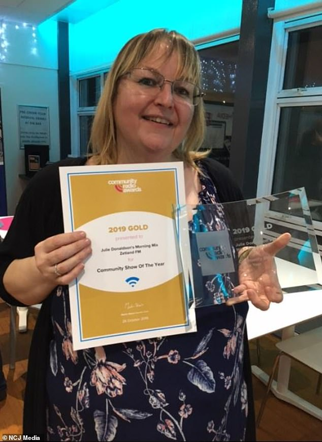 Popular:Julie's'Morning Mix' show picked up the Best Community Radio Programme prize at the 2019 Community Radio Awards, which Julie also co-hosted