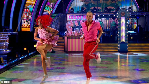 Impressive: Max George and Diane Buswell impressed the judges on Saturday night with their energetic jive
