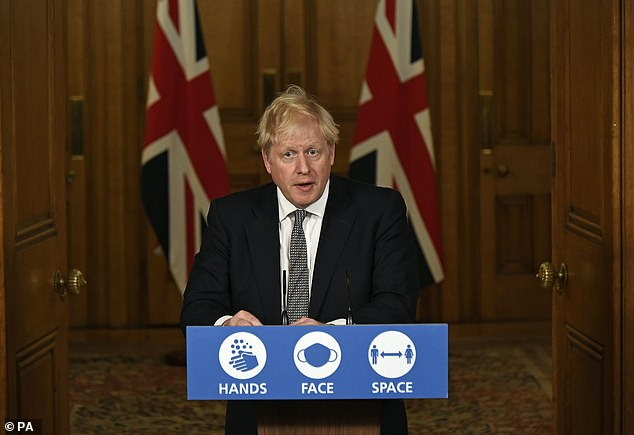 Prime Minister Boris Johnson announced new lockdown measures at a Downing Street press conference on Saturday