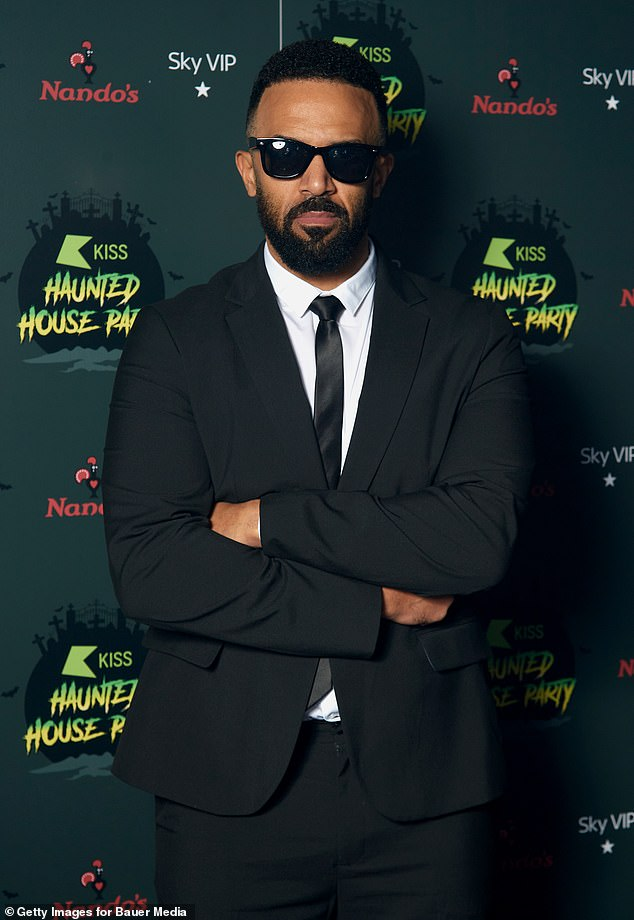 Galaxy defender: Elsewhere at the bash, Craig David channeled the Men In Black as he posed in a black suit and dark sunglasses.