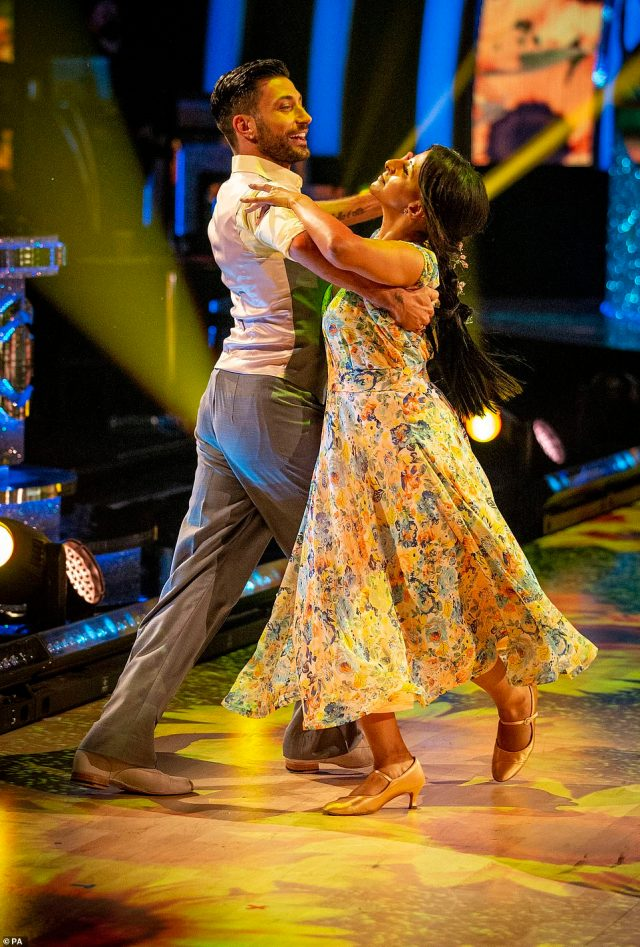 Not bad:Ranvir Singh and Giovanni Pernice managed to bag 21 points from the judges for their upbeat quickstep